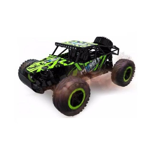 D-Power - Remote Controlled Cross Country Car 1:16 2.4G R/C - Muscle-Green