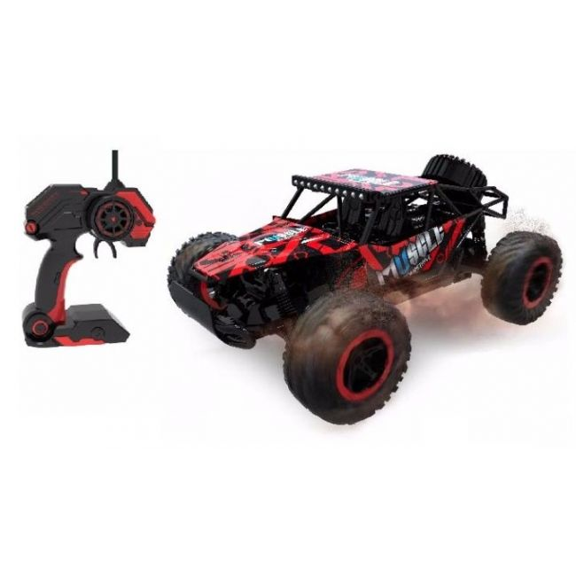 D-Power - Remote Controlled Cross Country Car 1:16 2.4G R/C - Muscle-Red