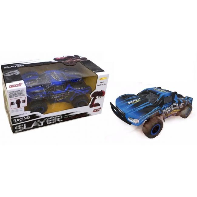 D-Power - Remote Controlled Cross Country Car 1:16 R/C-Muscle Extreme-Blue