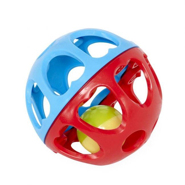 Little Hero 6months+ Rattle Ball - Blue/Red