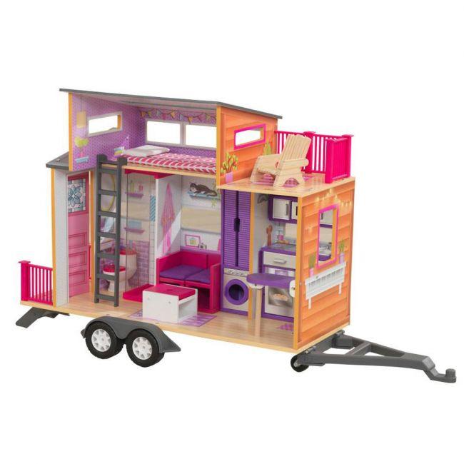 Kidkraft - Teeny House Wooden Dollhouse for Girls
