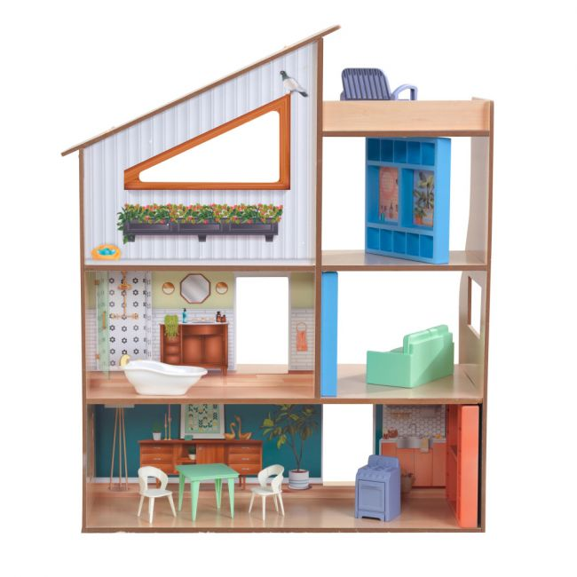 Kidkraft - Hazel Wooden Dollhouse for Girls