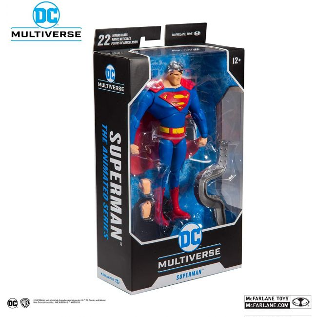 Dc Comic - Multiverse Animated 7 Action Figures Wv1 Animated Super Man