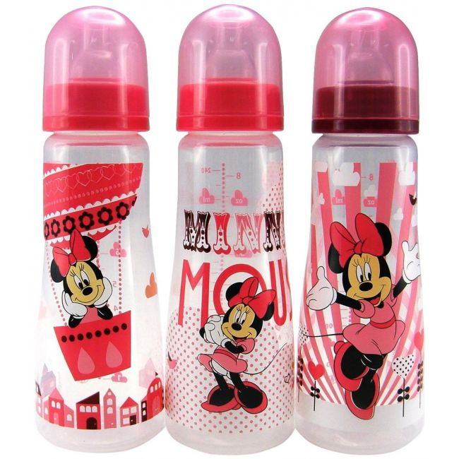 The First Years Disney Baby Minnie Mouse Slim Bottles 3 Pack