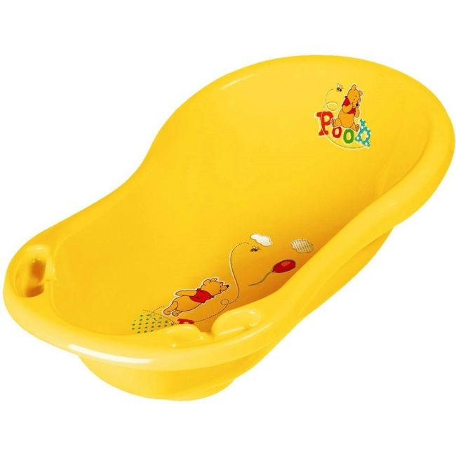 OKT Winnie The Pooh Yellow Baby Bath With Plug, 84cm