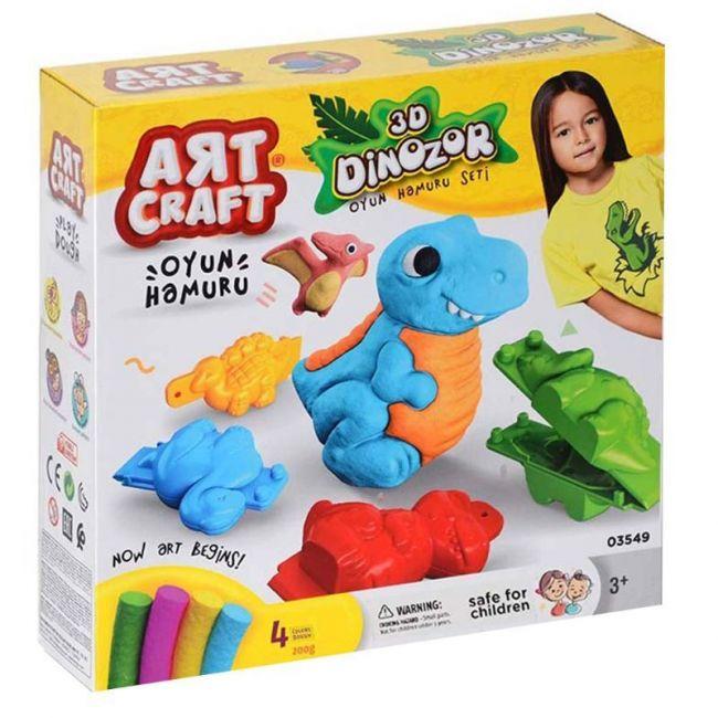 Dede - Art Craft 3D Dinosaurs Dough Set - 200G