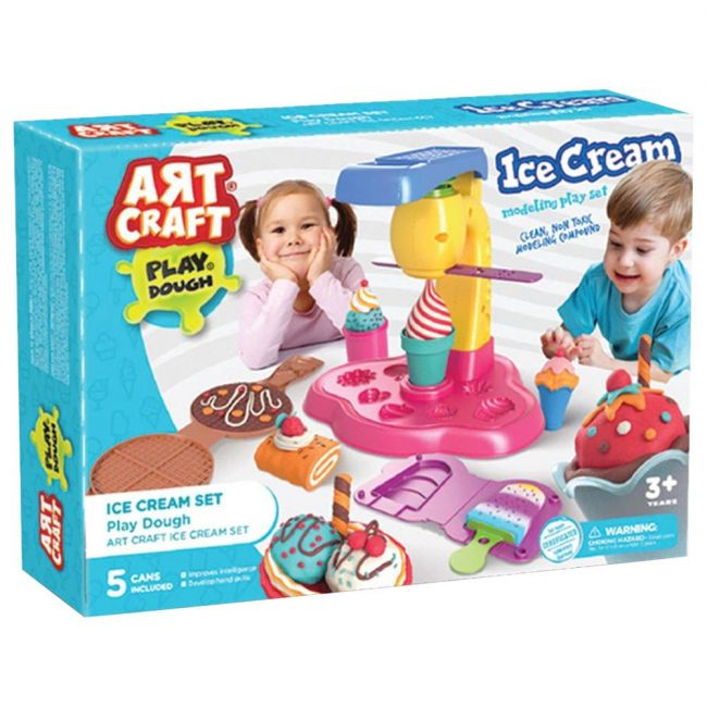 Dede - Art Craft Ice Cream Set Play Dough 280G