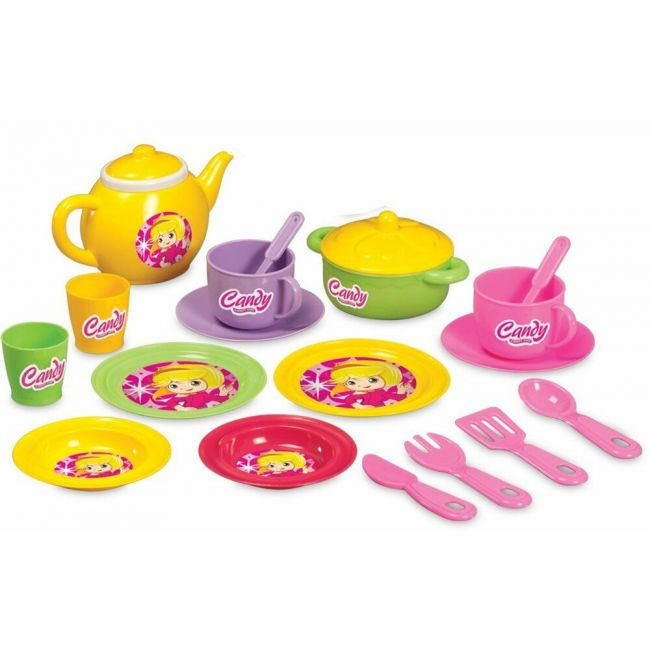 Dede - Kids Tea Set Of 19 Pcs, Colorful And Educational Toy