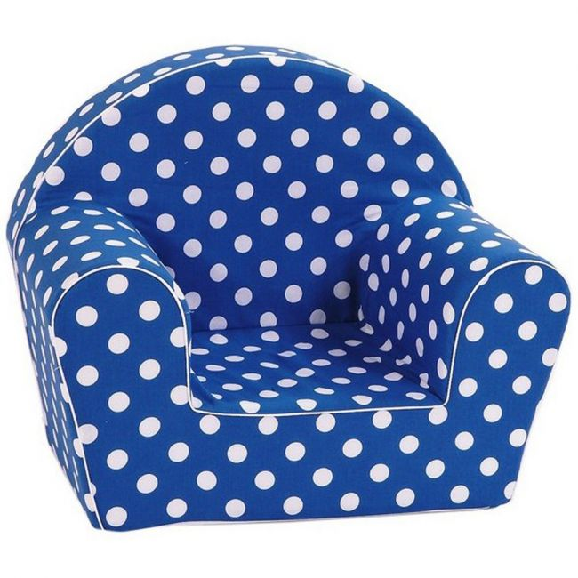 Delsit Arm Chair Navy with White Spots