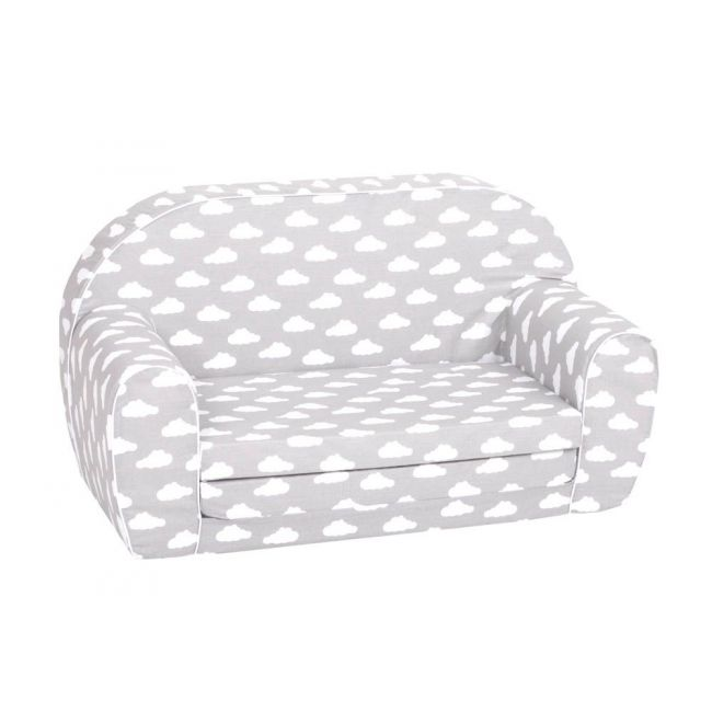 Delsit - Sofa Bed Grey With White Clouds