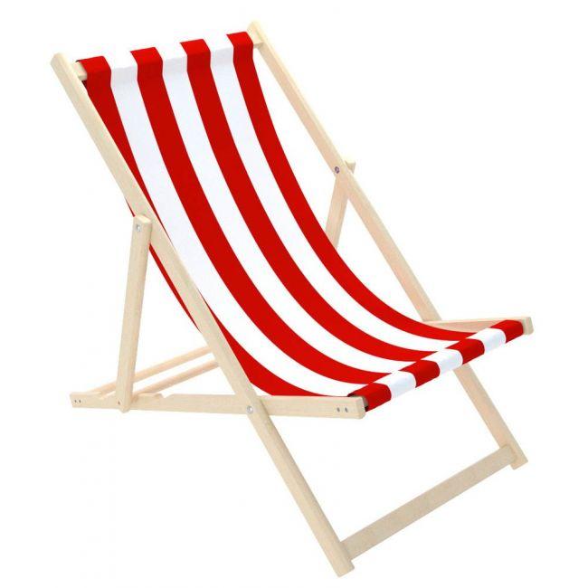 Delsit Sunbed For Children - Red White Stripes