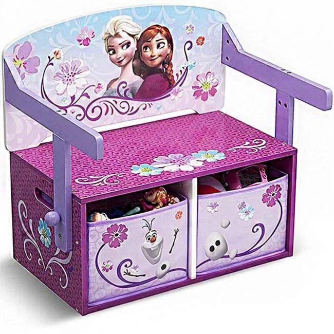 Delta Children Frozen bench & desk with storage space pink & purple