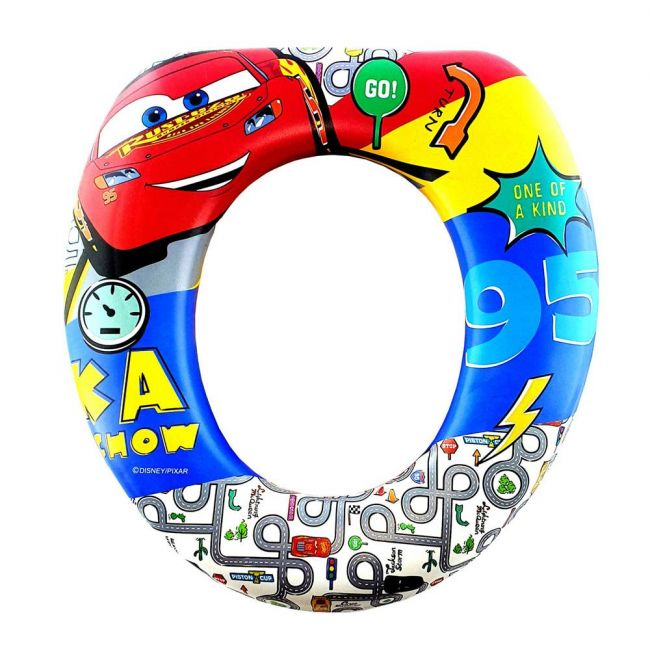 Disney - Cars Cushioned Toddler Toilet Trainer Seat