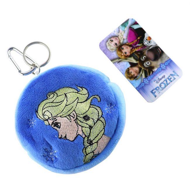 Disney - Frozen 3D Pouch Coin Key Chain Velvet Pouch