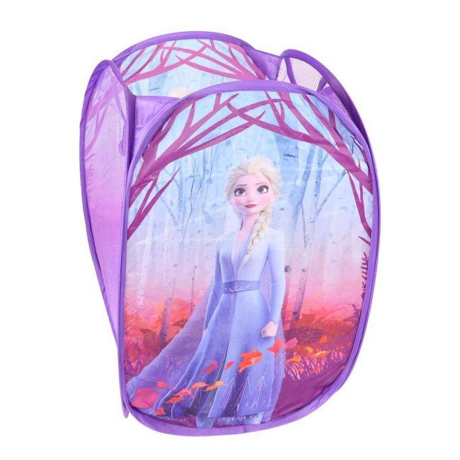 Disney - Frozen Hamper Laundry Toys Washing Tidy Bin Storage Pop Up Basket Kids Bag