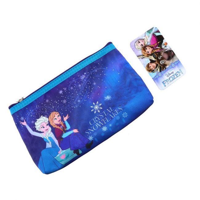 Disney - Frozen Makeup Cosmetic Travel Case Organizer Zipper Holder Handbag With Mirror