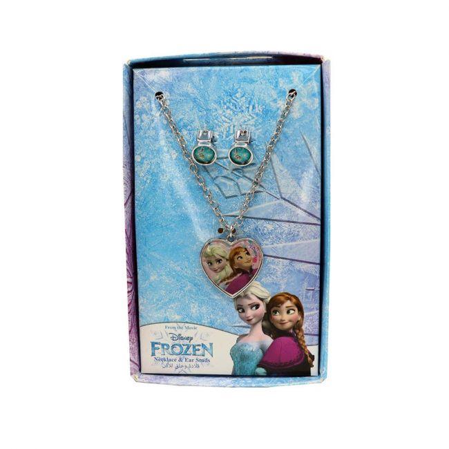 Disney - Frozen Metal Necklace & Ear Rings Set