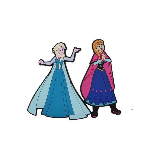 Disney - Frozen Pack Of 2 Soft Pvc Fridge Refrigerator Magnet