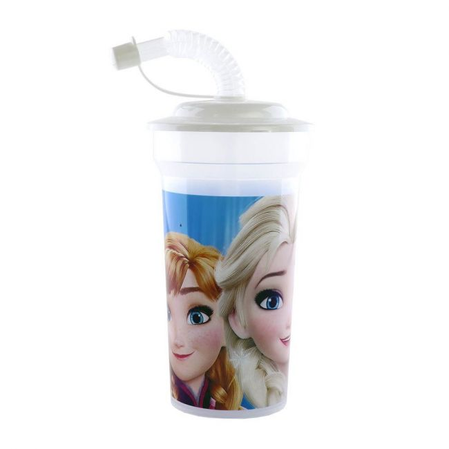 Disney - Frozen Print Cup With Straw & Lid - 400 Ml
