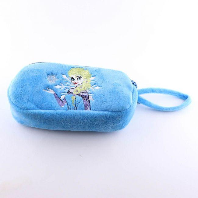 Disney - Frozen Soft Velvet Plush Pencil Case, Travel ,Cosmetic Pouch