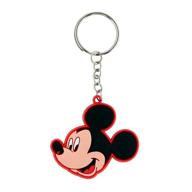 Disney - Mickey Mouse Personalized Multi-Color Key Chain Rubber Key Ring