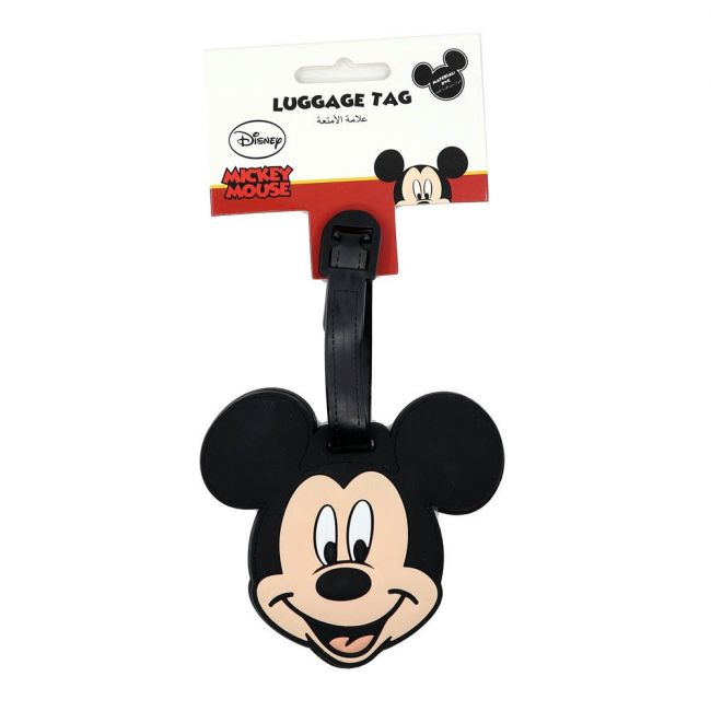 Disney - Mickey Mouse Soft Pvc Character Luggage/Suitcase/Backpack Tags