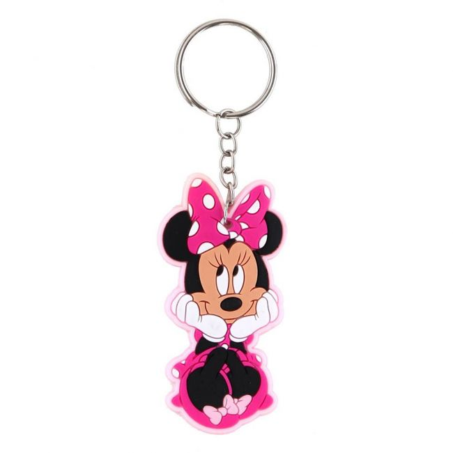 Disney - Minnie Mouse Personalized Multi-Color Key Chain Rubber Key Ring