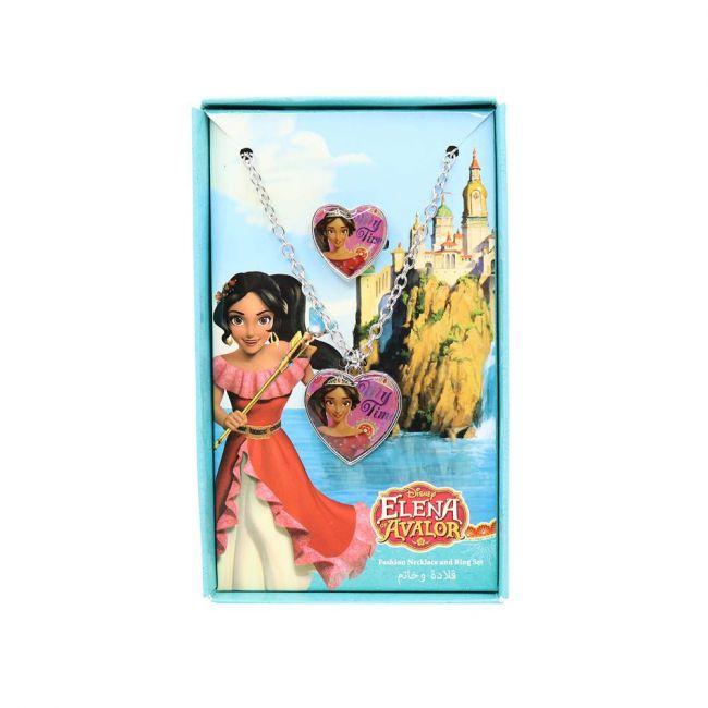 Disney - Princess Elena Metal Necklace & Rings Set