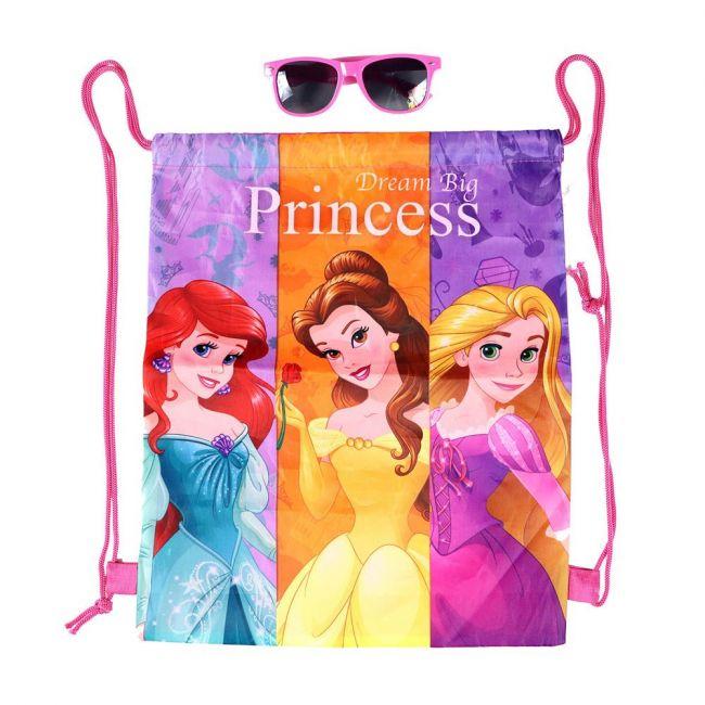 Disney - Princess Printed Drawstring Bag With Sunglasses