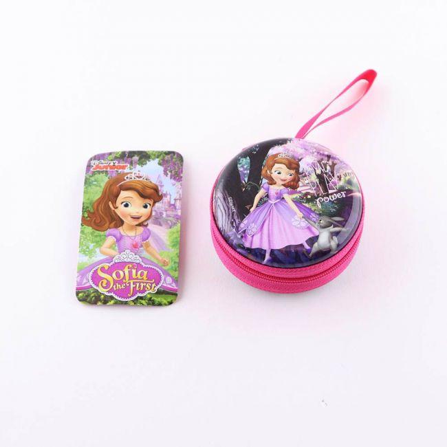 Disney - Princess Sofia The First The Explorer Metal Tin Case Pouch-Earphone, Coins, Memory Card
