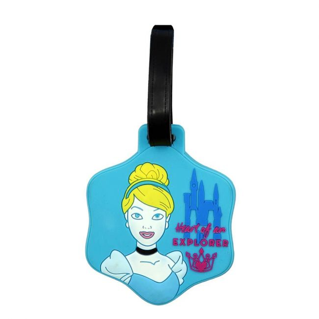 Disney - Princess Soft Pvc Character Luggage Suitcase Backpack Tags