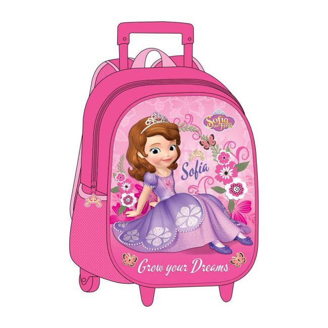 """Disney - Sofia The First - Eva 3Pc Set Trolley Bag 12"""""""
