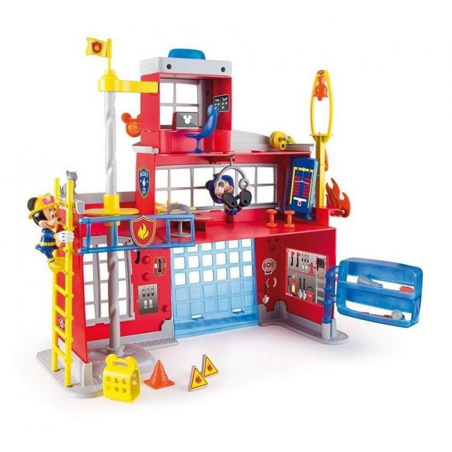 Disney Mickey Mouse To The Rescue Fire Station Figurine Toys