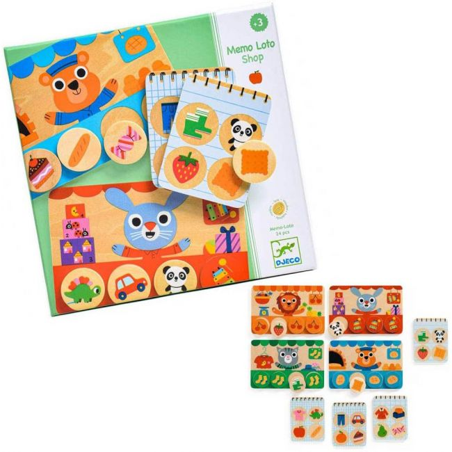 Djeco - Memo Loto Shop Game