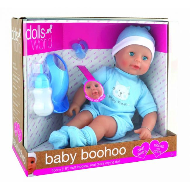 Dollsworld - Baby Boohoo 46 Cms Doll Blue