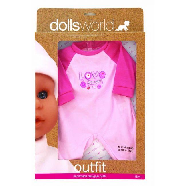 Dollsworld - Hand Made Designer Outfits For 46 Cms Dolls Pink Red