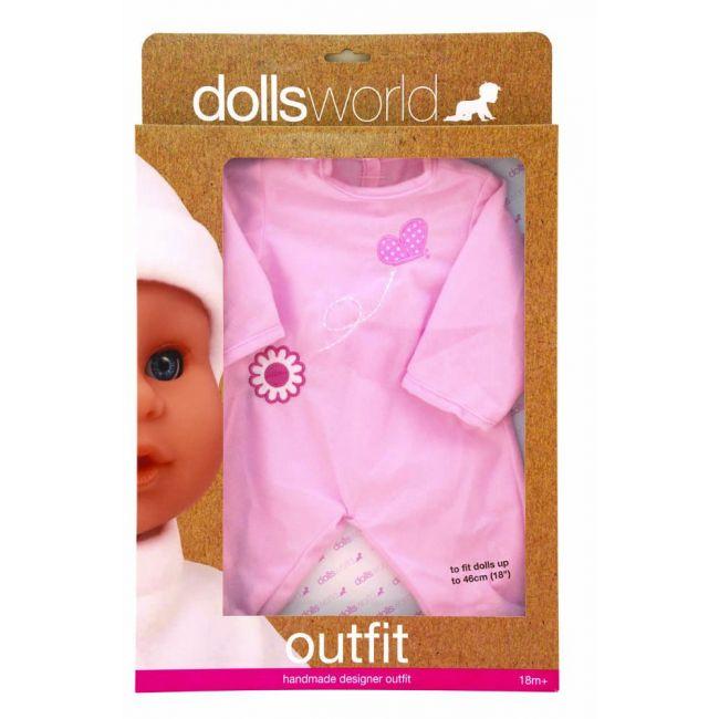 Dollsworld - Hand Made Designer Outfits For 46 Cms Dolls Pink