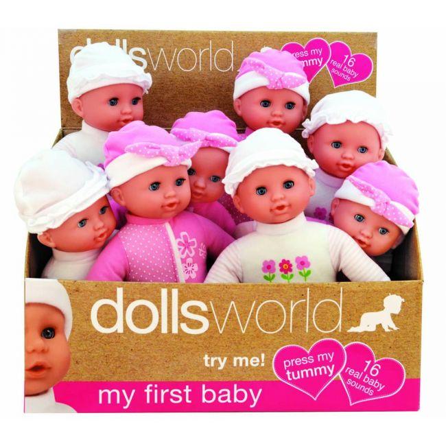 Dollsworld - My First Baby 30 Cms Pink