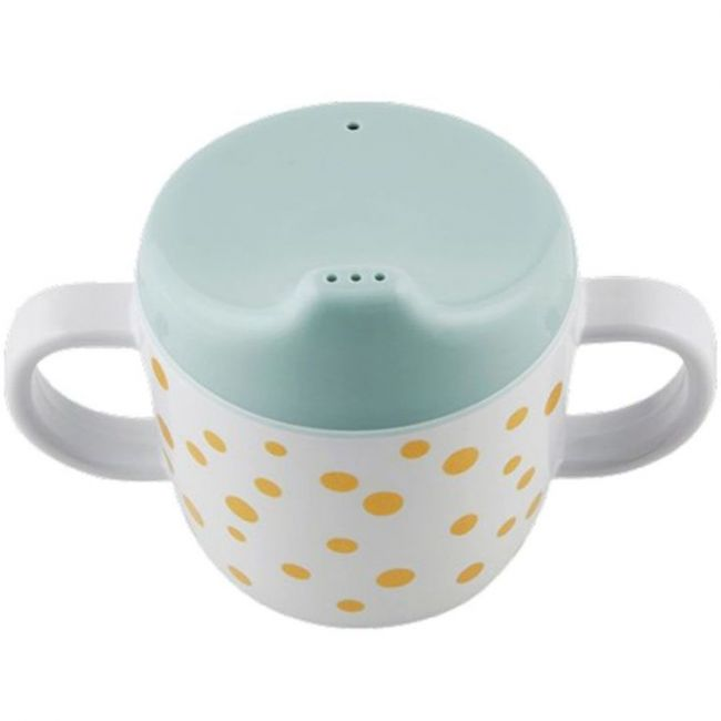 Done by Deer Spout Cup Happy Dots gold & blue