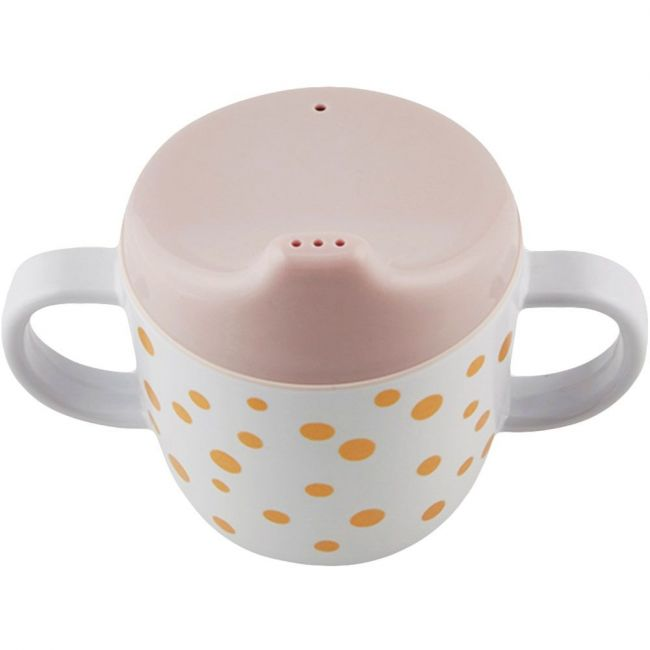 Done by Deer Spout Cup Happy Dots gold & powder