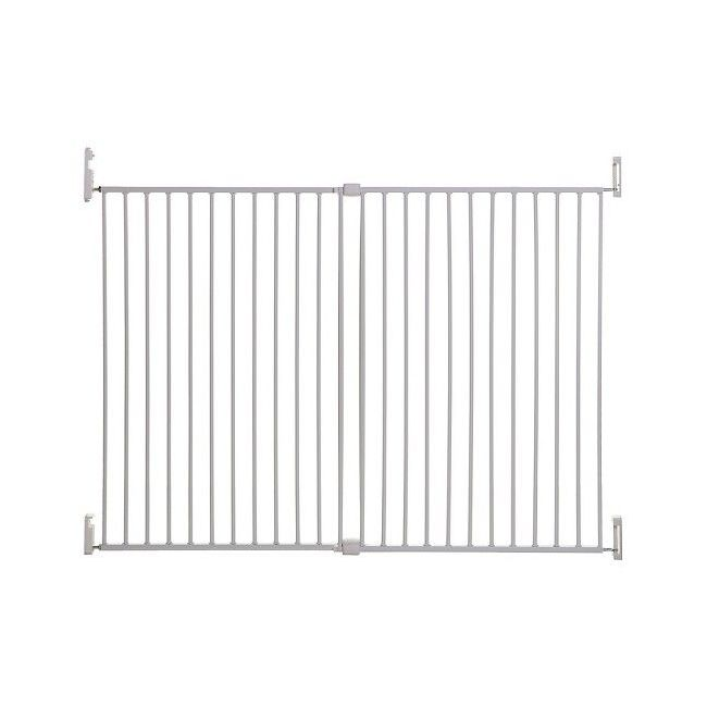 Dreambaby White Broadway Metal Gro-Gate Xtra-Wide