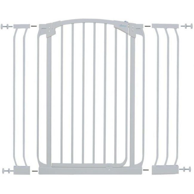 Dreambaby WhiteChelsea Tall Gate & Extension Set 1 Gate + Extension