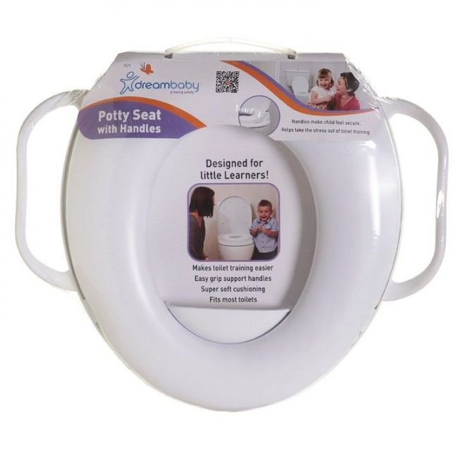 Dreambaby White Potty Seat With Handles