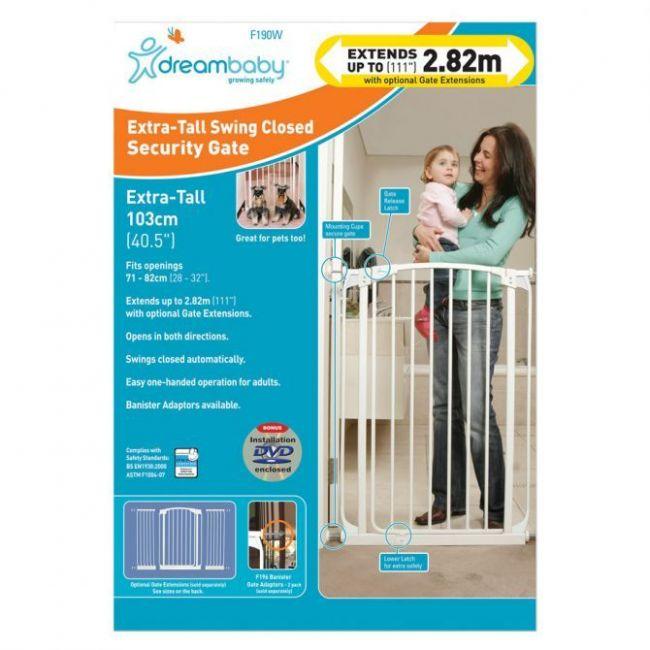 Dreambaby Safety White Gate 1m High