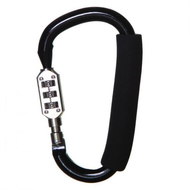 Dreambaby Black Stroller Hook Large with Combination Lock