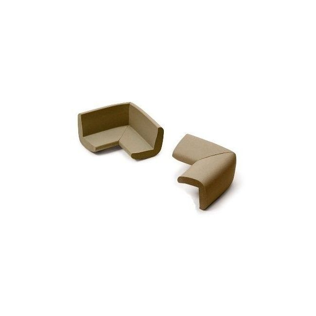 Duma Safe Child Safety Corner Guard Brown/Ivory/Grey 75mmx75mm
