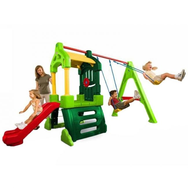 Little Tikes - Clubhouse Swing Set - Natural