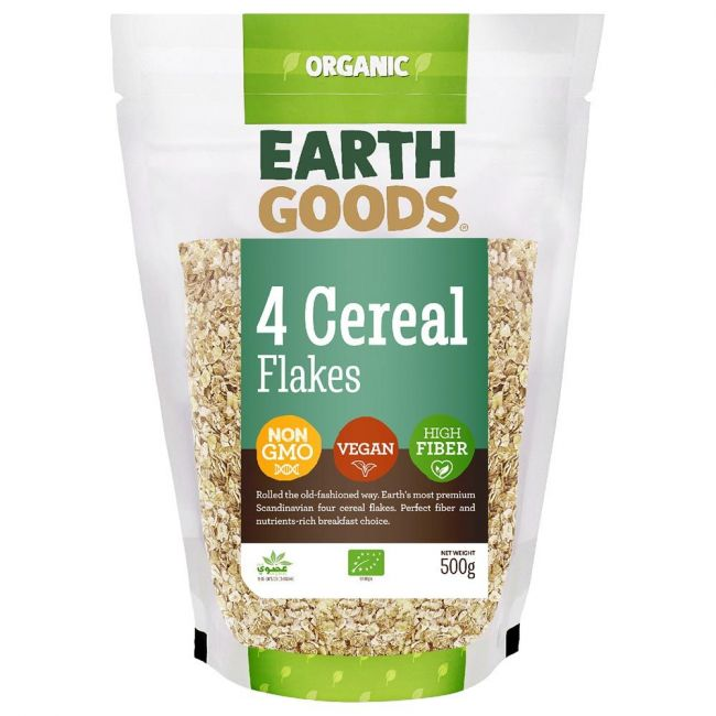 Earth Goods - Organic 4 Cereal Flakes - 500g