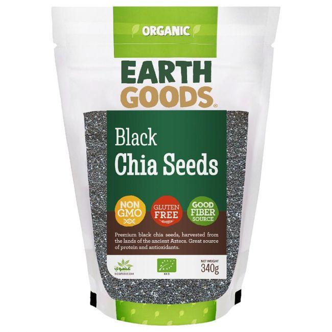 Earth Goods - Organic Black Chia Seeds - 340g