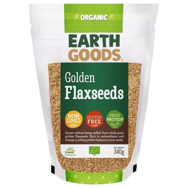 Earth Goods - Organic Blond Flax Seeds - 340g